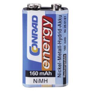 Accu bloc 9 V NiMH 8 4 V Conrad energy 250181 160 mAh 1 pc(s)