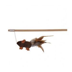 Trixie Canne à pêche souris avec plume (50 cm)