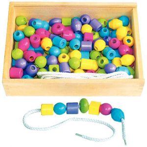 Sapin Malin 130 Perles bois pastel