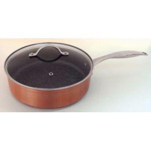 Kitchen pro Cuivre Excellence - Sauteuse avec couvercle (24 cm)