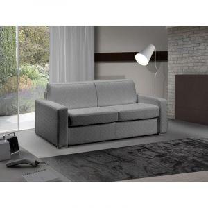 INSIDE Canapé lit 3-4 places MASTER convertible système RAPIDO 160 cm Tweed Cross gris silex MATELAS 18 CM INCLUS