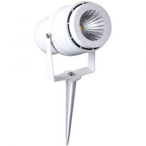 V-TAC PROJECTEUR DE JARDIN LED LED INTÉGRÉE 12 W VT-857-W NW BLANC BLANC