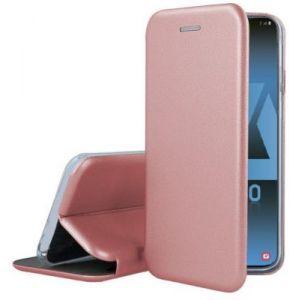 Ibroz Etui Samsung A40 Cuir rose poudré
