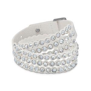 Swarovski BRACELET 5518697 - Bracelet Cuir Cristal Blanc Femme