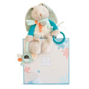 Doudou et Compagnie Peluche d'activités Happy lapin (25 cm)