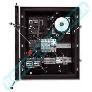 AquaService Interrupteur à bascule unipolaire noir/orange
