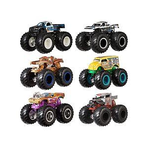 Mattel Hot Wheels - Coffret 2 véhicules Monster Truck Double Démolition (Modèle Aléatoire)