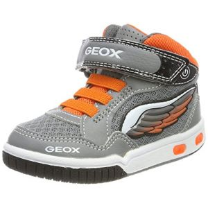 Geox Jr Gregg A, Baskets Hautes garçon, Gris (Grey/Orange), 36 EU