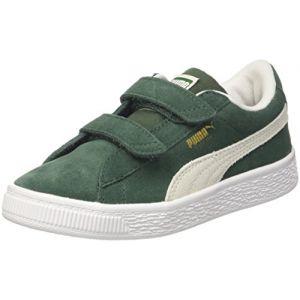 Puma Suede Classic V PS, Sneakers Basses Mixte Enfant, Vert (Pineneedle White), 34 EU