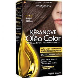 Kéranove Oléo Color 5.15 Marron glacé tentation - Coloration permanente anti-dessèchement