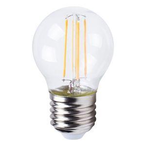 XQ-Lite Ampoule filament LED globe E27 XQ1464 4 W équivalent a 35 W blanc chaud - Culot : E27 - 4 W équivalent à 35 W - Flux lumineux : 400 lm - Température de couleur : 2700 K - Blanc chaud.