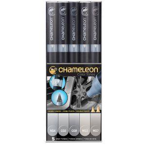 Chameleon Set de 5 marqueurs à alcool Tons gris