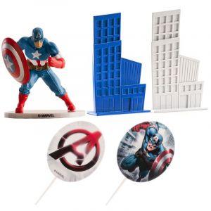Dekora Kit deco de gâteau Avengers Captain America