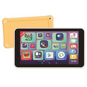 """Lexibook Lexitab Master - Tablette Enfant 7"""" avec Applications Éducatives, Jeux et Contrôles Parentaux - Pochette Protection Incluse - Android, Wi-FI, Bluetooth, Google Play, Youtube, Blanche/Jaune, MFC149FR"""