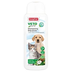 Beaphar Vetopure Shampooing stop puces pour chien et chat 250 ml