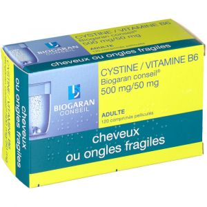 Biogaran Cystine/Vitamine B6 Conseil 500 mg/50 mg - 120 Comprimés