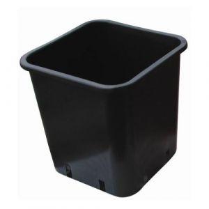 Nuova Pasquini & Bini Pot carré plastique noir 30.5x30.5x27cm 18L