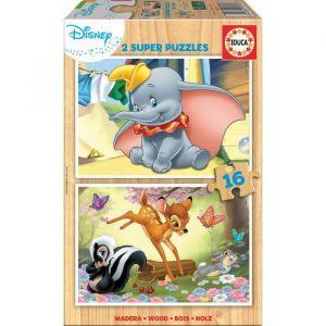 Educa Puzzle en Bois - Disney - Dumbo & Bambi