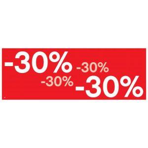 APLI 14035 - Affiche préimprimée -30% , format 69x24 cm