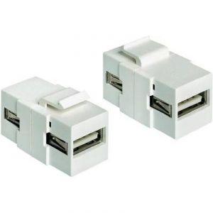 Delock 86317 - Adaptateur USB 2.0 A femelles Blanc