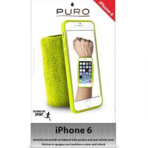 Puro IPC647RUNGRN - Brassard RUNNING WRISTBAND pour iPhone 6 - Vert