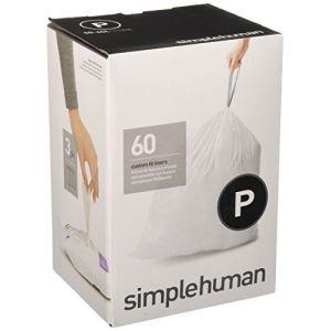 Simplehuman Sacs poubelle Pocket Liners 50-60 L Code P