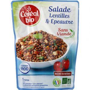 Céréal bio Salade de lentilles, épeautre, tofu et petites légumes
