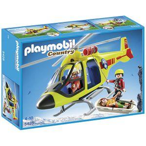 Playmobil 5428 Country - Hélicoptère de secours en montagne