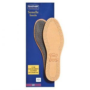 Saphir Semelles cuir sur charbon - taille 43 - Accessoire Chaussure