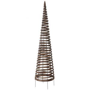 Nortene Treillis Pyramide, en métal et osier, H 130 cm