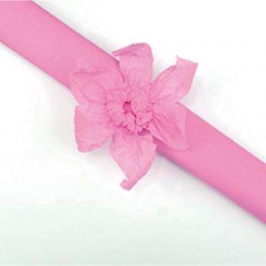 Rouleau papier crépon 10m Rose