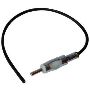 Image de Aerzetix Connecteur adaptateur fiche prise antenne autoradio DIN mâle précâblé 30cm pour auto voiture
