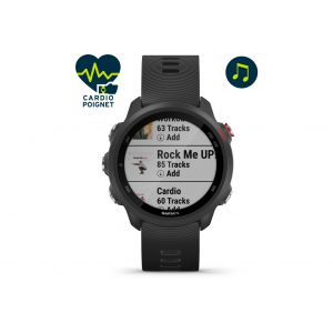 Garmin Forerunner 245 Music Montre GPS connectée, black/red Montres & Ceintures cardio