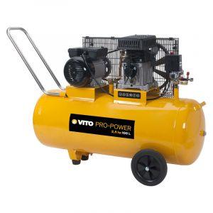 Vito Pro-Power Compresseur à courroie 2.5 CV /100L VITOPOWER 1850 W 230V AC Pression 8 Bar Max