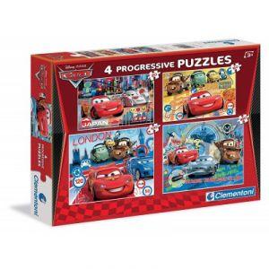 Clementoni Cars - 4 progressive puzzles 20 pièces