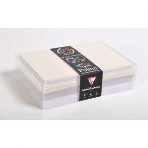 Clairefontaine 20842C - Coffret de 40 enveloppes 114x162 + 40 cartes 110x155 (5 couleurs Mariage)