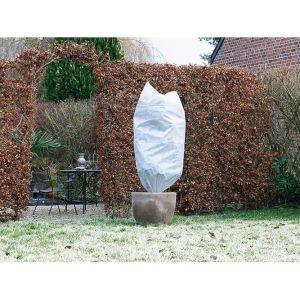 Atout Loisir Lot de 2 housses d'hivernage incl. cordelette de serrage - PP, blanc, 50 gr/m² - Ø75 cm x 1,50 m