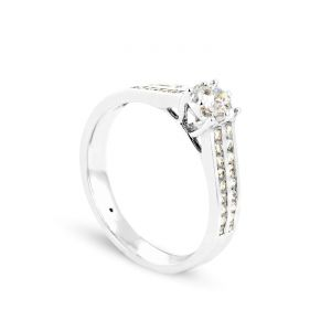 Rêve de diamants 3612030077272 - Bague en or blanc sertie de diamants