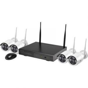 Sygonix 355791D1 / 1522017 - Set de surveillance sans fil avec 4 caméras