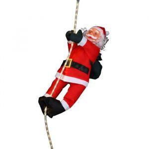 Pere Noël grimpeur sur cordon lumineux 36 LED (60 cm)
