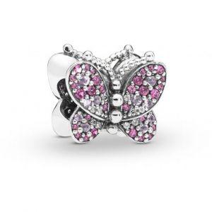 Pandora Charm Animaux 797882NCCMX - Charm Papillon Rose en Argent