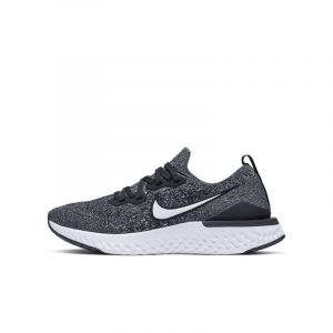Nike Epic React Flyknit 2 GS Chaussures homme Gris/argent - Taille 39