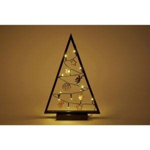 Christmas Dream Sapin et guirlande zigzag lumineux 15 LED 40x28 cm bronze