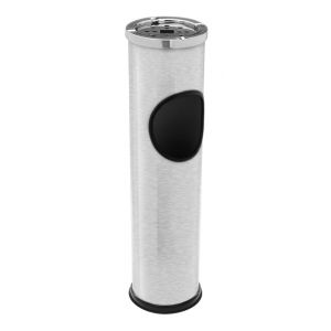 AC-Déco BBTradesales sur pied d'extérieur en acier inoxydable Poubelle Cendrier