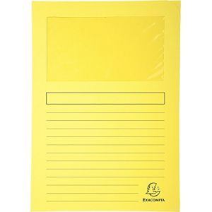 Exacompta 50109E - Paquet de 100 chemises à fenêtre FOREVER, coloris jaune