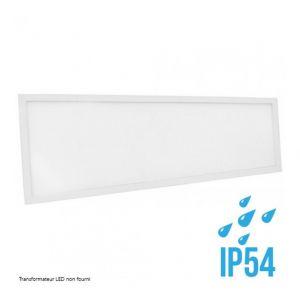 Delitech Blanc Froid - Dalle LED-Cadre Blanc-120x30cm-40W-IP54-Nova (