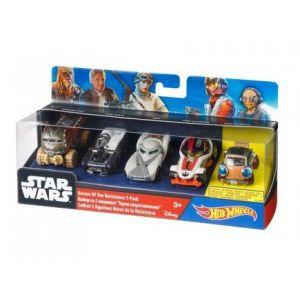 Mattel Hot Wheels Star Wars : coffret 5 véhicules Héros de la Résistance