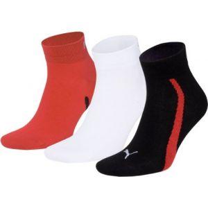 Puma Chaussettes -underwear Lifestyle Quarters 3 Pack - Black / White / Red - EU 39-42