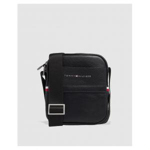 Tommy Hilfiger Th Business Mini Reporter, Sacs portés épaule homme, Noir (Black), 6x21x18 cm (B x H T)