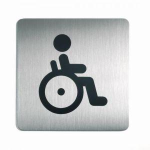 """Durable 4959-23 - Pictogramme """"Toilettes Handicapés"""", coloris silver"""